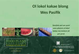 Food Plants for Healthy Diets in the Western Pacific - Bislama