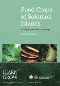 Food Crops of the Solomon Islands - A brief introduction to the crops
