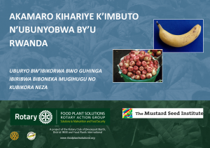 Potentially Important Fruit, Nuts and Seeds of Rwanda - Kinyarwanda